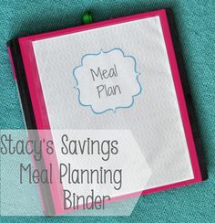 Getting Organized: Meal Planning Binder!  FREE Printables!   Need to make a meal planning binder to save time and money each week.