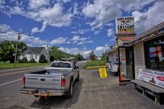 Culture in Great Valley, United States (very typical street view part world church road truck restaurant) - a photo by Koen Van de moortel