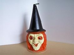 Vintage Halloween Gurley Candle ~ Witch Head