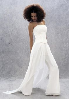 bride wore pants - Google Search