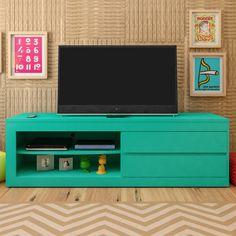 Ama cor e gosta de um ambiente descontraído? Este #rack turquesa é perfeito para você! :3 #decoração #design #madeiramadeira
