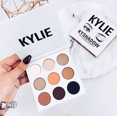 pinterest: @lilyosm   kylie cosmetics kyshadow palette bronze palette makeup eyes