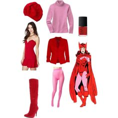 Scarlett Witch Marvel Comics inspired outfit