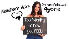 Abraham-Hicks ~ Top Priority Is How You FEEL! (9.55 min)