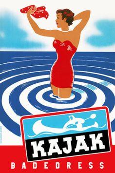 Vintage Finland Advert Ad for Kajak Sports