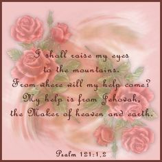 Such a touching scripture answering our prayers and looking to Jehovah, the one listening to his dear and loyal servants!  Pinned by Lisa Peters (Psalm 121:1,2 for @Alice Cartee Cartee Cartee Cartee Cartee Cartee Tottenham Wells from Lisa Peters)...