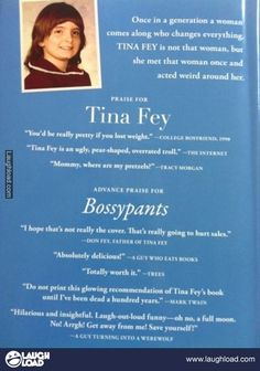 Back of Tina Fey's Autobiography