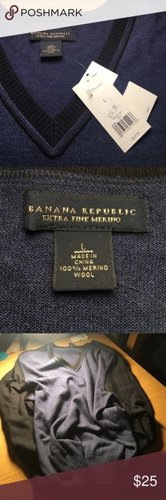 Banana Republic Sweater Super soft 100% merino wool sweater with TAGS STILL ATTACHED! Flawless sweater in great condition, the perfect item to treat yourself or give to a loved one as a gift! 🎁 Banana Republic Sweaters V-Necks