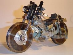 Motorcycle from old computer parts
