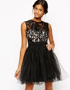 Little Mistress  Plus Size Babydoll Prom Dress with Baroque Effect Bodice - black/nude
