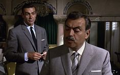 """* Sean Connery & Pedro Armendáriz * (""""From Russia with Love"""")."""