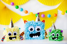 Fun monster centerpieces