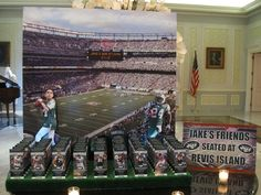Football Theme Jets Escort Place Card Table by Balloon Artistry - mazelmoments.com