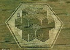 trinity of crosses. crop circle connected to mayan prophecies.
