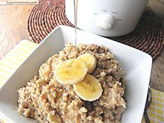 Overnight crockpot banana steel cut oats