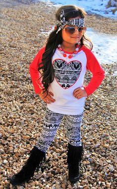 Aztec Heart Red Boutique Set
