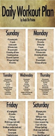 Daily Workout Plan - Cardio and strength training fitness six-pack-abs workout body workout-inspiration