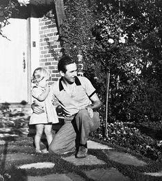 Walt Disney and Diane at home