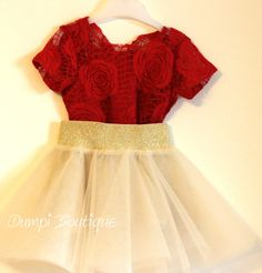 Matching Mother and Daughter Red Roses Outfis//Mommy baby