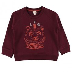 NEW: Jules Tiger sweat! Pretty cool, right ? http://www.littlefashiongallery.com/fr/mode-enfant/little-fashion-gallery/jules-tiger-ligne-burgundy-little-fashion-gallery-h13/