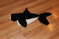 Crochet Killer Whale Bite Blanket Adult size by CustomCrochetables
