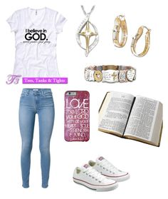 """""""Believe in God!"""" by coolgirl2004 ❤ liked on Polyvore featuring beauty, The Bradford Exchange, 7 For All Mankind, Converse and Kimberly Wolcott"""