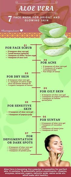 aloe vera face mask for bright and glowing skin