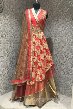http://www.mangaldeep.co.in/lehengas/demesne-hot-red-and-golden-in-readymade-designer-partywear-indowestern-suit-7914 For more information :- Call us @ +919377222211 (Whatsapp Available)