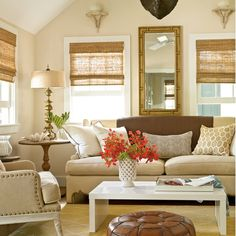 20 Ways to Decorate with Neutral Colors - These soothing, natural-hued spaces are anything but drab. See our favorite ideas for outfitting coastal rooms with subtle colors, from earth-toned upholstery to driftwood-inspired drapes. | Coastal Living