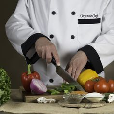 Mr. Hero's Corporate Chef, Jim, hand chopping vegetables and working on the next new creation.