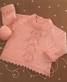 Lacey baby jumper, free pattern