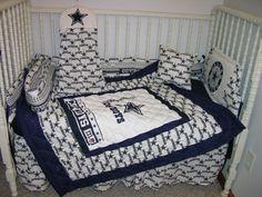 Crib Bedding Nursery Set Made W Dallas Cowboys Double Batting So Cute