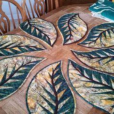 Tea Time Placemats ~Quiltworx.com, made by CI Flo Bradbury