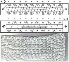 Loom Knitting stitches - work and diagram # 06