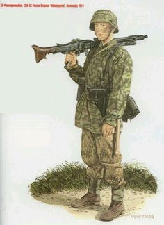 World War II Uniforms -Germany - Waffen SS Panzer Grenadier Division  Hitlerjugend - Normandy 1944 Typical incorporation of the camo and boots  all for good ... 128e1e2bf69