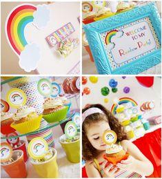 Over the Rainbow Theme Birthday Party