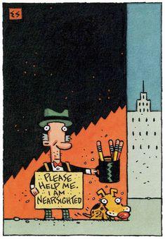 Elwood Smith postcard; illustration