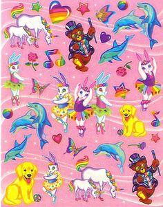 Lisa Frank Stickers - Ballerina Bunnies Dancing Dolphins Markie Unicorn