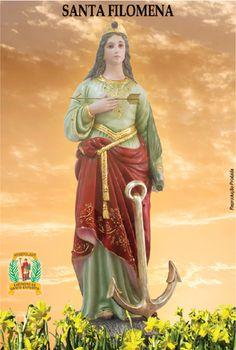 Essas relíquias foram transferidas para a igreja de Nossa Senhora das Graças, em Nápoles, onde muitas graças e milagres foram alcançados por intercessão de Santa Filomena, bem como ocorreram em muitas outras partes do mundo cristão.O seu santuário tornou-se um centro de intensa e freqüente peregrinação.