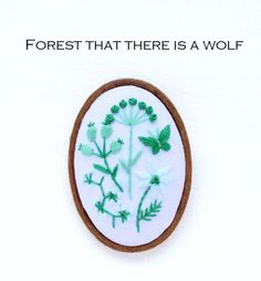 『オオカミの森』ブローチ刺繍キット   net store ~アンナとラパン