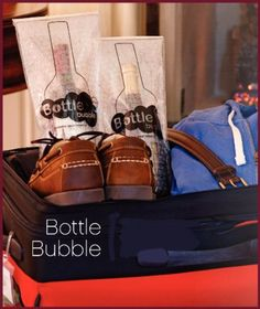 Wine Travel Bag Air Travel Bottle Bubble Pack Wine Bottle Carrier Bottle Holder Set of 2 >>> Read more  at the image link.