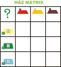 Matrix 1 thema huizen voor kleuters, free printable Kids Learning Activities, Preschool Worksheets, Body Parts Preschool, Visual Perception Activities, Brain Teasers For Kids, Home Themes, Math Projects, School Themes, Too Cool For School