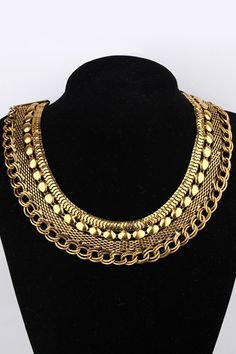 Multilayer Chains Necklace#Romwe