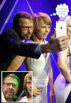 Bjorn and his wax works dummy Best Of Abba, Frida Abba, Rock Groups, Popular Music, Kinds Of Music, Pop Music, Belle Photo, Pop Group, Cool Bands