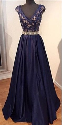 long prom dress, navy prom dress, party