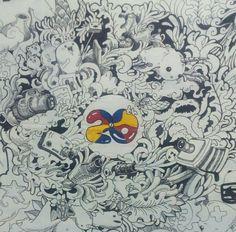 Doodle ini d buat dalam rangka acara 20 thn nya PANORAMA UNISMA.  Well bebaskan gambarmu