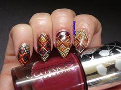 baroque fool: NOTD: Fall colors nail art