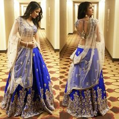 Indian Ethinic New Pakistani Wedding Bollywood Party Wear Designer Lengha Choli Blue Lehenga, Lehenga Style, Indian Lehenga, Silk Lehenga, Lehenga Choli Latest, Anarkali Lehenga, Lehenga Skirt, Patiala Salwar, Sabyasachi