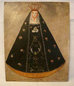 La Virgen de la Soledad  The Virgin of Solitude  Retablo from Mexico