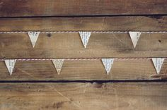 adorable little garland made from vintage book pages!